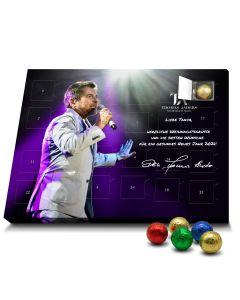 Schokoladen-Adventskalender mit Wunschnamen personalisiert