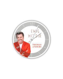 Acryl-Wanduhr rund (26 cm Durchmesser) 'EWIG MIT DIR'
